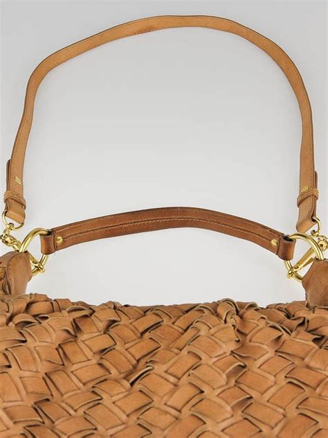 Miu Miu Woven Leather Tote by Miu Miu Blush Woven Leather Fringe Hobo Bag Yoogi S Closet