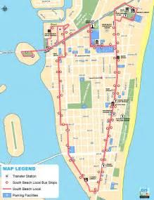 Miami South Beach Map by South Beach Local Bus Route