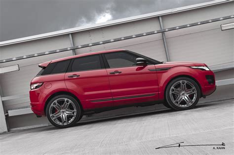 red range rover 2012 kahn range rover evoque red