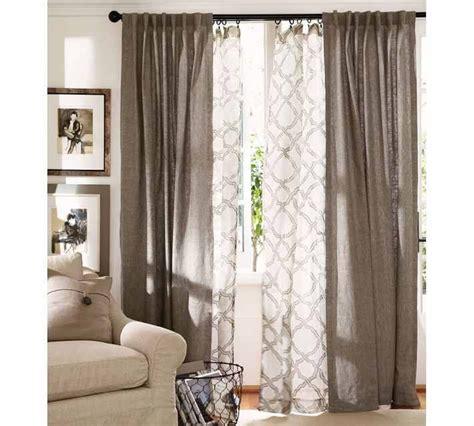 double layer curtain rod double curtain look casa pinterest window design