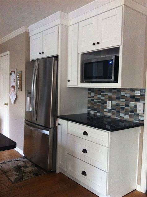 kitchen microwave cabinets 25 best ideas about microwave cabinet on pinterest