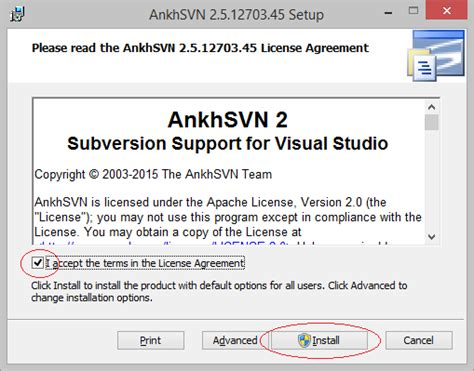 visual studio ankhsvn tutorial installing and configuring ankhsvn