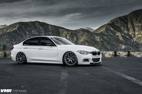 alpine white bmw f30 328i on vmr wheels