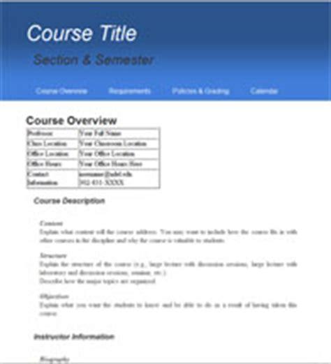 syllabus design template ud present tools syllabus templates