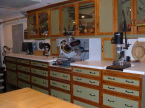 Cabinets Shop One Wall Workshop Woodworking Plan We Used Standard Garage