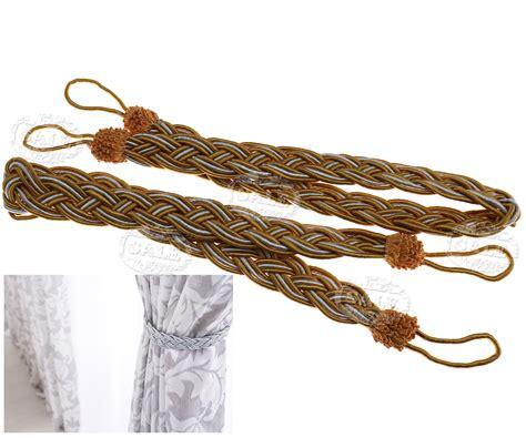 curtain rope holdbacks 6 colors curtain tie backs braided satin rope tiebacks
