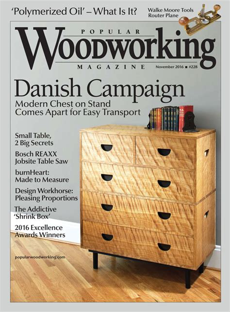 popular woodworking subscription popular woodworking magazine november 2016 featuring