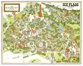 six flags arlington map six flags shane s amusement attic 1980 s