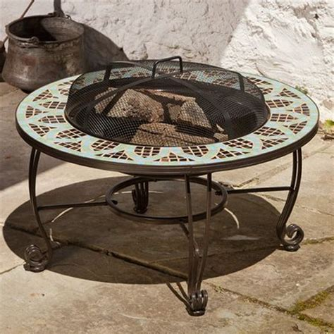 Wood Burning Pit Tables le mans mosaic wood burning pit table