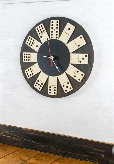 traditional domino wall clock  wood  tinkermake