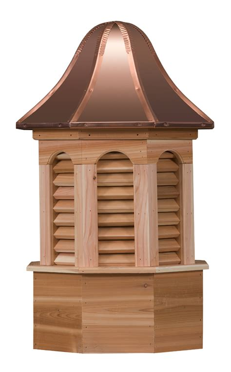 Cedar Cupola Hexagonal Louvers Wood Cupola
