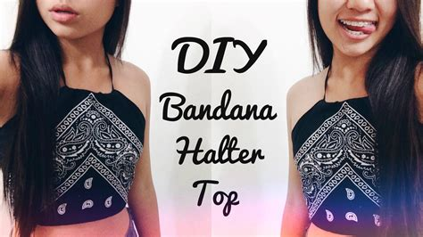diy bandana diy bandana halter top easy no sew