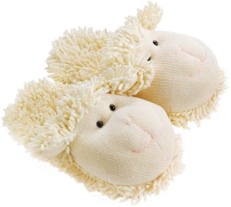 fuzzy friends slippers aroma home fuzzy friends sheep slippers plushpaws co uk
