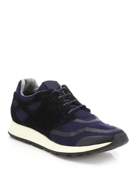 zegna shoes lyst z zegna techmerino lightweight sneakers in blue for