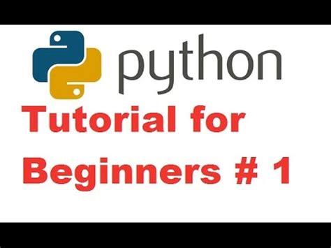 Python Tutorial For Beginners With Exles | python tutorial for beginners 1 getting started and