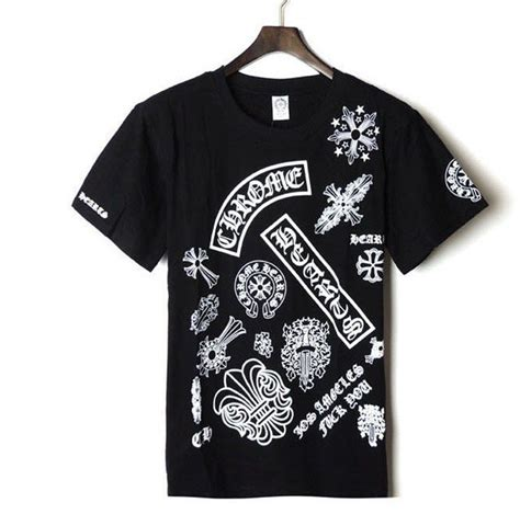 chrome hearts t shirt chrome hearts classic pattern short sleeves t shirt 2014