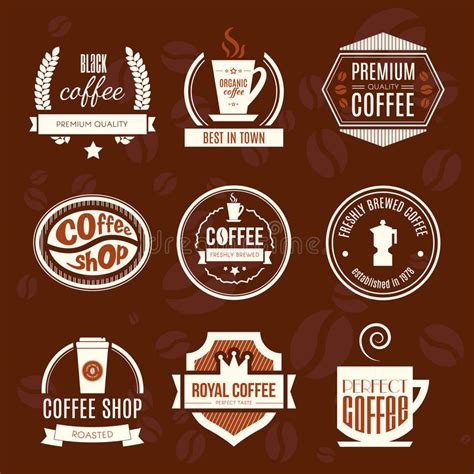 design elements of a coffee shop coffee shop logo collection stock illustration