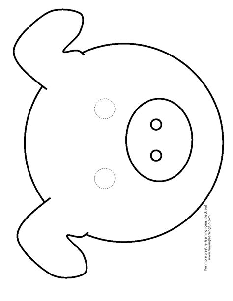 pig mask template pig mask cut out images