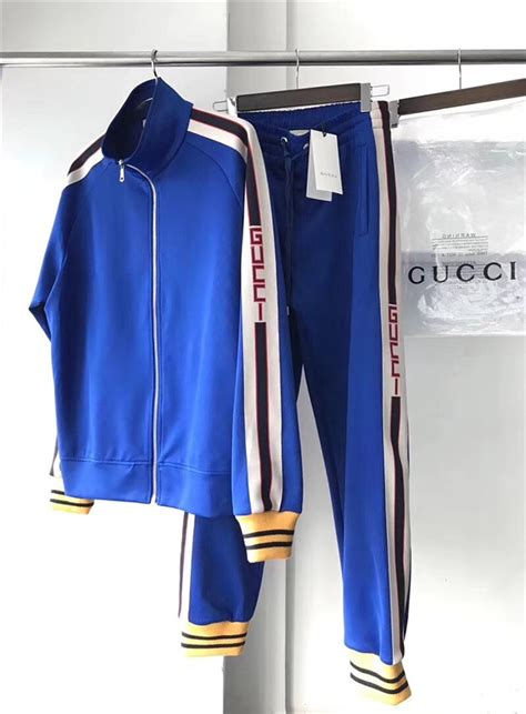 gucci technical jersey track suitscobalt bluetracksuits