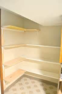 l shaped corner shelves make it laundry room makeover part 4 pantry