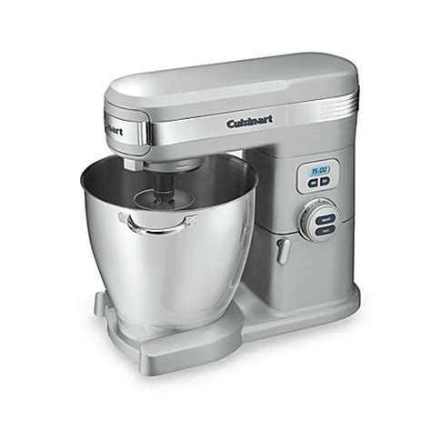 bed bath and beyond mixers cuisinart 174 7 quart brushed chrome stand mixer bed bath