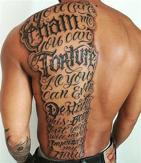 back tattoo script tattoo lettering design with