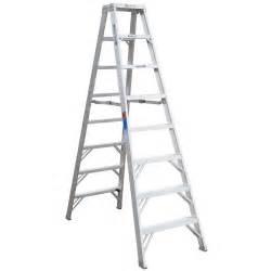 werner 8 ft fiberglass step ladder with 300 lb load