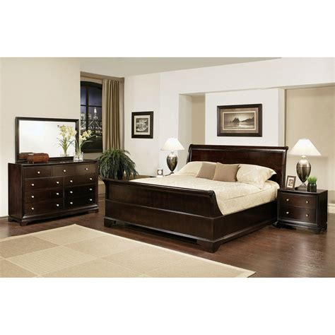 kingston 5 espresso sleigh king size quot bedroom set