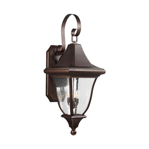 Bronze Outdoor Wall Light Progress Lighting Cypress Collection 1 Light Forged Bronze Motion Sensing Outdoor Wall Lantern