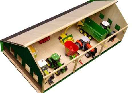 scheune holz spielzeug holz scheune f 252 r siku traktoren 1 32 neu ebay