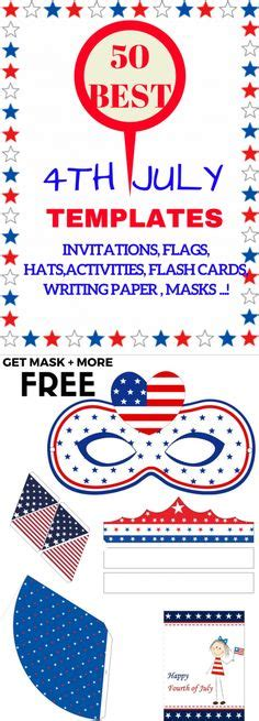 4th Of July Party Free Printable Photo Booth Props At Www Amandakeyt Com Freebies Buy The App Isna Will Template Usa