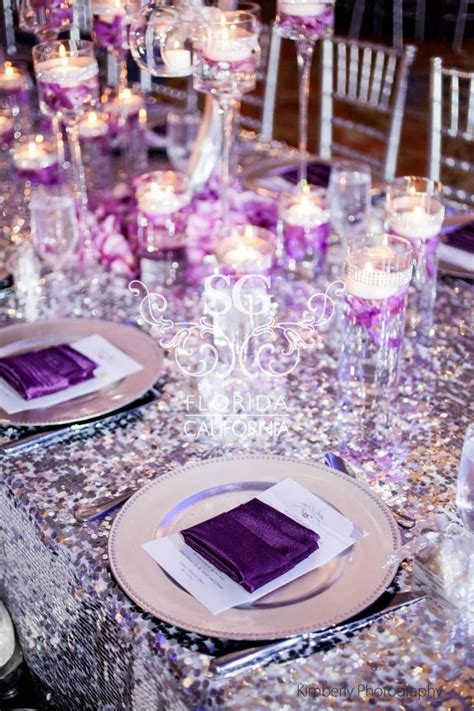white silver purple accents our wedding silver