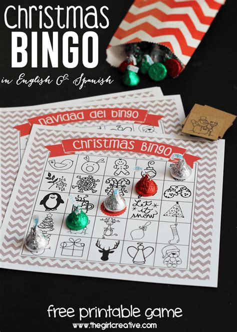 printable christmas games in spanish printable christmas bingo game in english and spanish