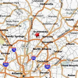 dunwoody map sci of atlanta