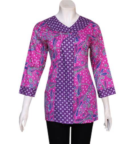 Baju Batik Wanita Kombinasi Polos gambar batik modern pekalongan madura auto design tech
