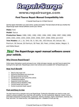 online auto repair manual 1992 ford f series transmission control ford taurus online repair manual for 1990 1991 1992 1993 1994 1995 1996 1997 1998 1999