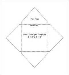 Template For Printing Envelopes by Small Envelope Templates 9 Free Printable Word Pdf