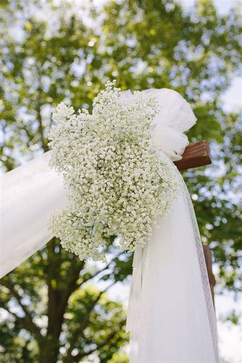 Wedding Arbor With Tulle by Baby S Breath Wedding Details Mywedding