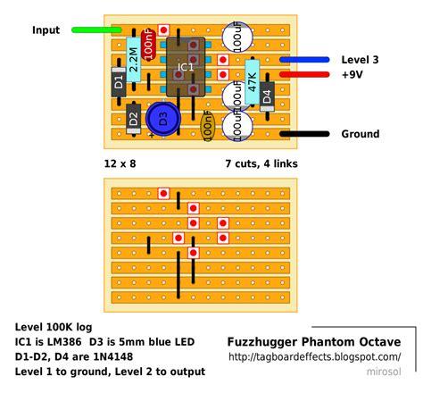 u boat octave guitar fx layouts fuzzhugger phantom octave