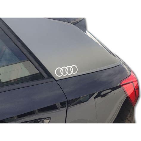 Aufkleber Audi Ringe by Audi Original Dekorfolie Audi Ringe Florettsilber