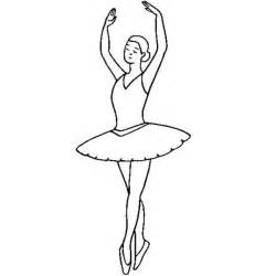 Ballerina  Fifth Position Coloring Page sketch template