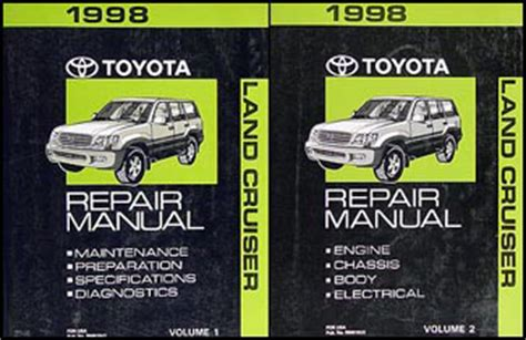 service manual how to fix cars 1998 toyota tacoma electronic toll collection toyota tacoma 1998 toyota land cruiser repair shop manual 2 volume set original