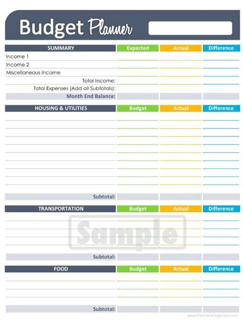 free printable budget worksheets