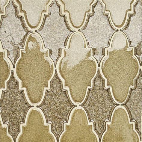 splashback tile roman selection iced gold arabesque glass