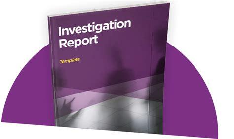 fraud investigation report template investigation report template guides investigator