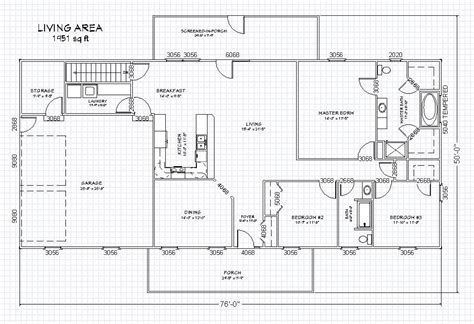 ranch house plan with basement the house plan site