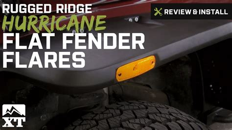 how to install rugged ridge fender flares jeep wrangler rugged ridge hurricane flat fender flares 2007 2016 jk product summary