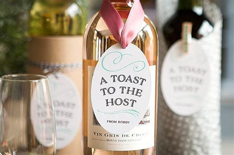 Hostess Wine Tags   Party Inspiration
