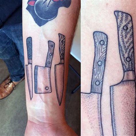 knife tattoo on wrist mens dotwork chef knife wrist tattoos тату pinterest
