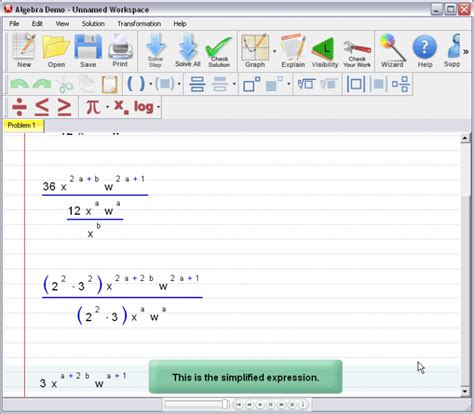Algebrator Simplifying Exponential Expressions